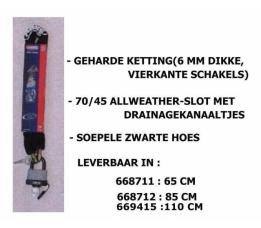 Slot Kettingslot Abus 70/45/6 Ks 65cm Zwart