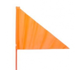 Veiligheidsvlag fiets oranje