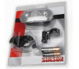 Batterijkoplamp Simson Basta Scope m centr stuurhouder incl batterijen