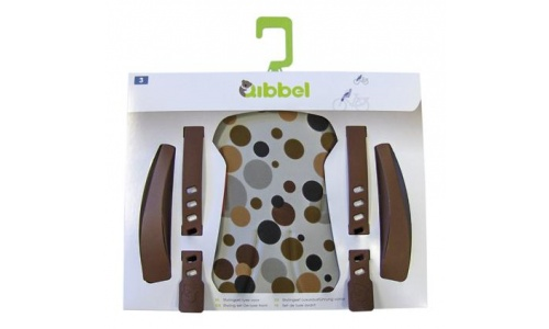DUO QIBBEL STYLINGSET LUXE ACHTERZITJE DOTS BROWN