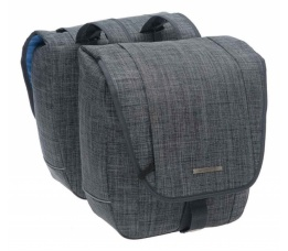 Tas New Looxs Avero double polyester jeans grey 181.224