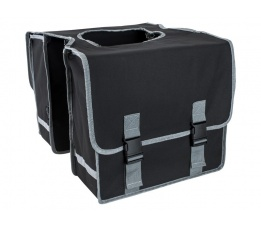 Dubbele tas polyester zwart
