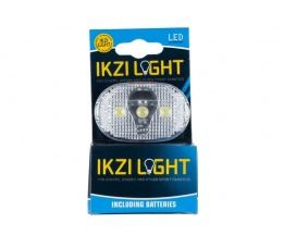 KOPLAMP BATT IKZI WHITE LIGHT 3 LED OP 20 P/DOOS  1420325N