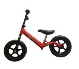 "PexKids kinder scooter / loopfiets 12"" staal rood"