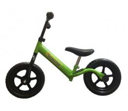 """PexKids kinder scooter / loopfiets 12"""" staal groen"""