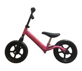 """PexKids kinder scooter / loopfiets 12"""" staal roze"""